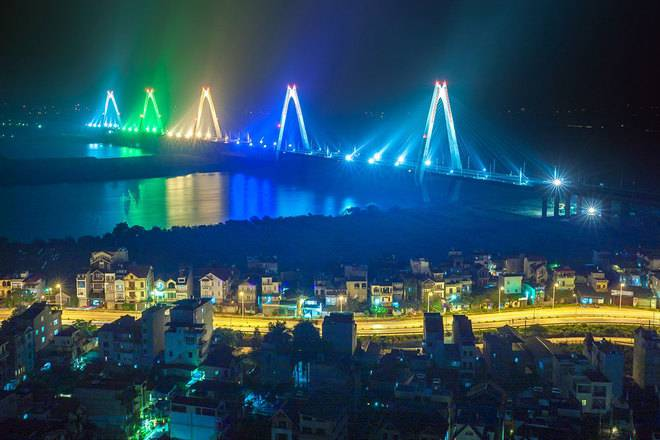 view từ dự án Lạc Hồng Vào ban đêm